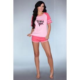Короткая розовая пижамка Ejiroma